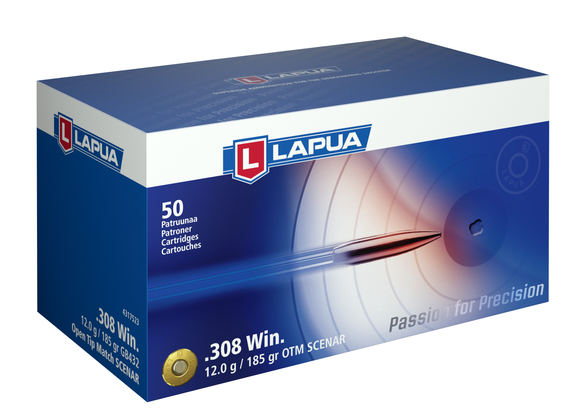 Lapua .308 win GB432 Scenar 12g
