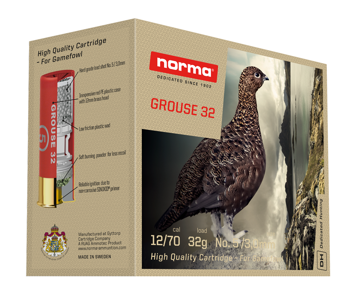 Norma Grouse 32 12/70 32g  25kpl/rs