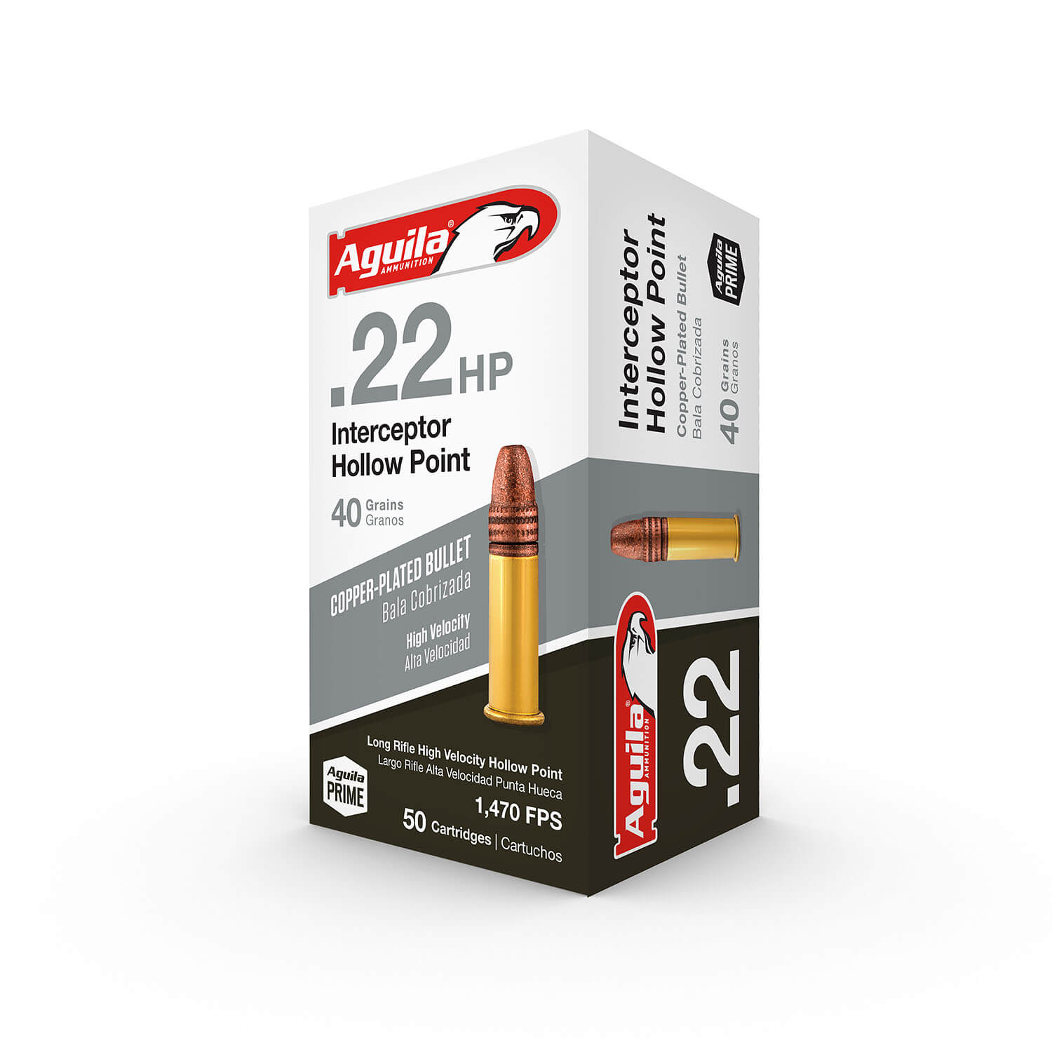 Aguila .22 LR Interceptor Hollow Point 40 gr,448 m/s