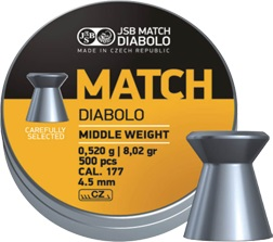 JSB Match Diabolo Middle weight Ilmaaseluoti 4,49mm 0,520g