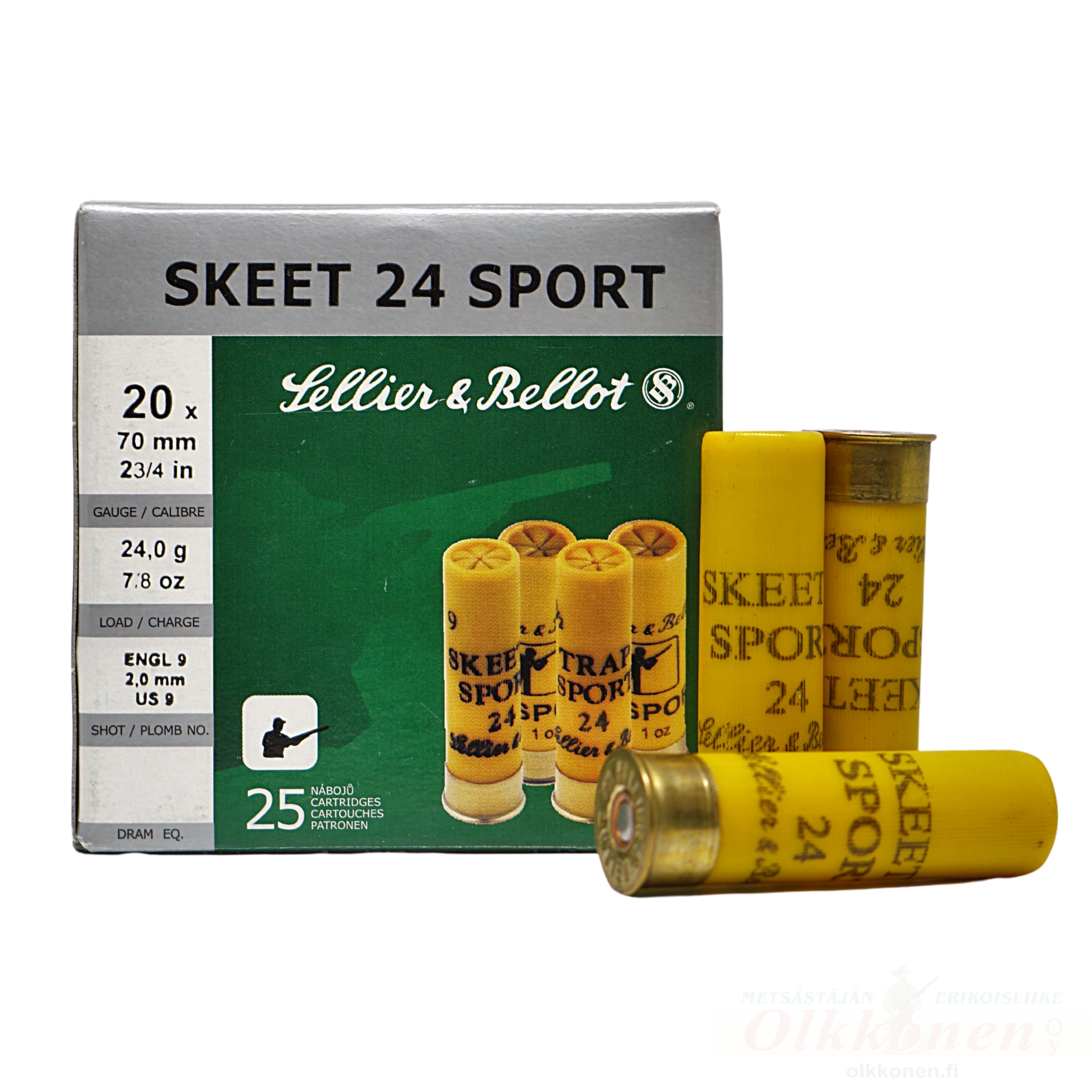 Sellier & Bellot Skeet 24 Sport 20/70  2,0mm