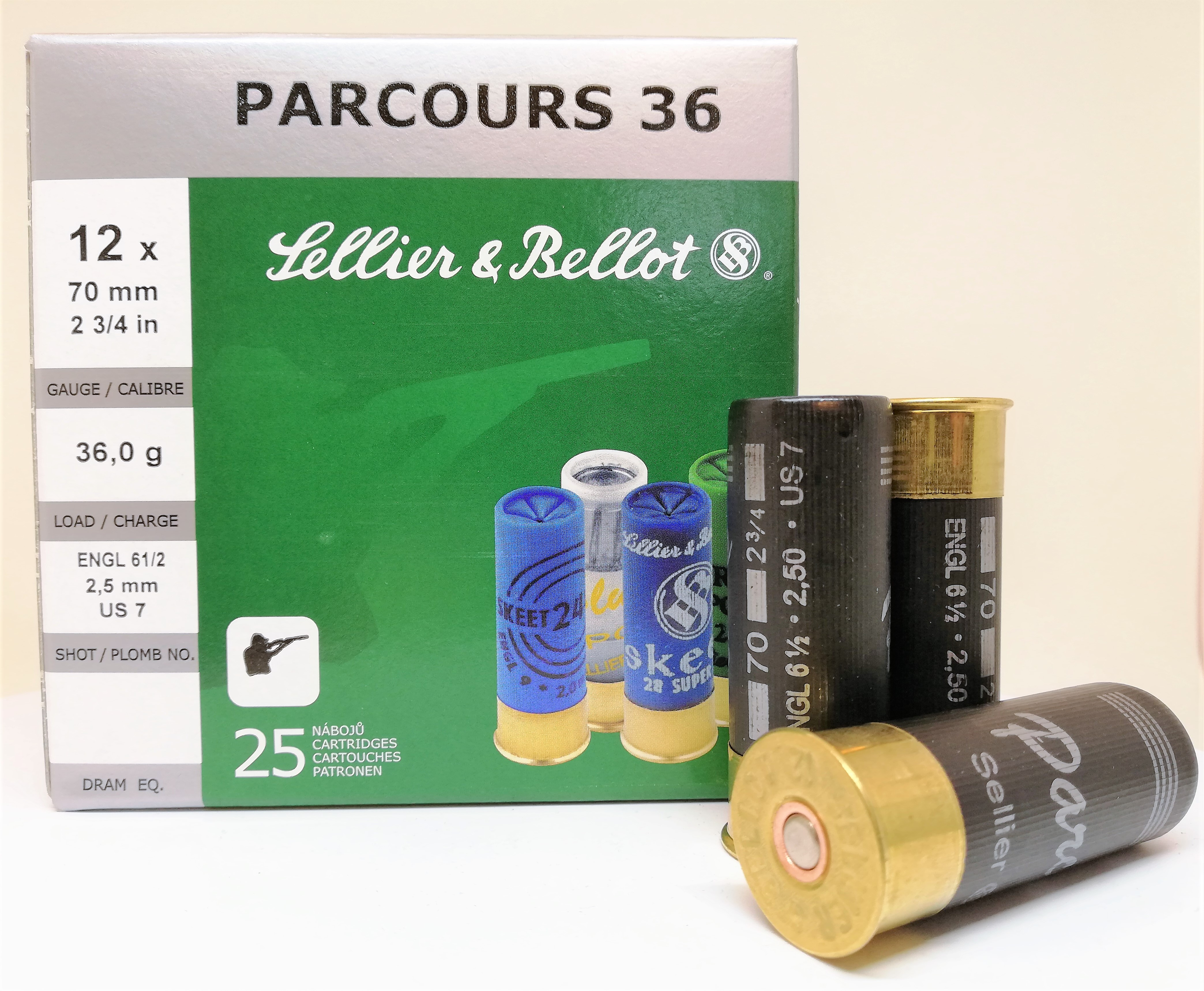 Sellier & Bellot Parcours 12/70 36g 2,5mm