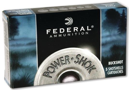 Federal Power-Shok 12/70 Buckshot 4B  6,1mm 5kpl/rs