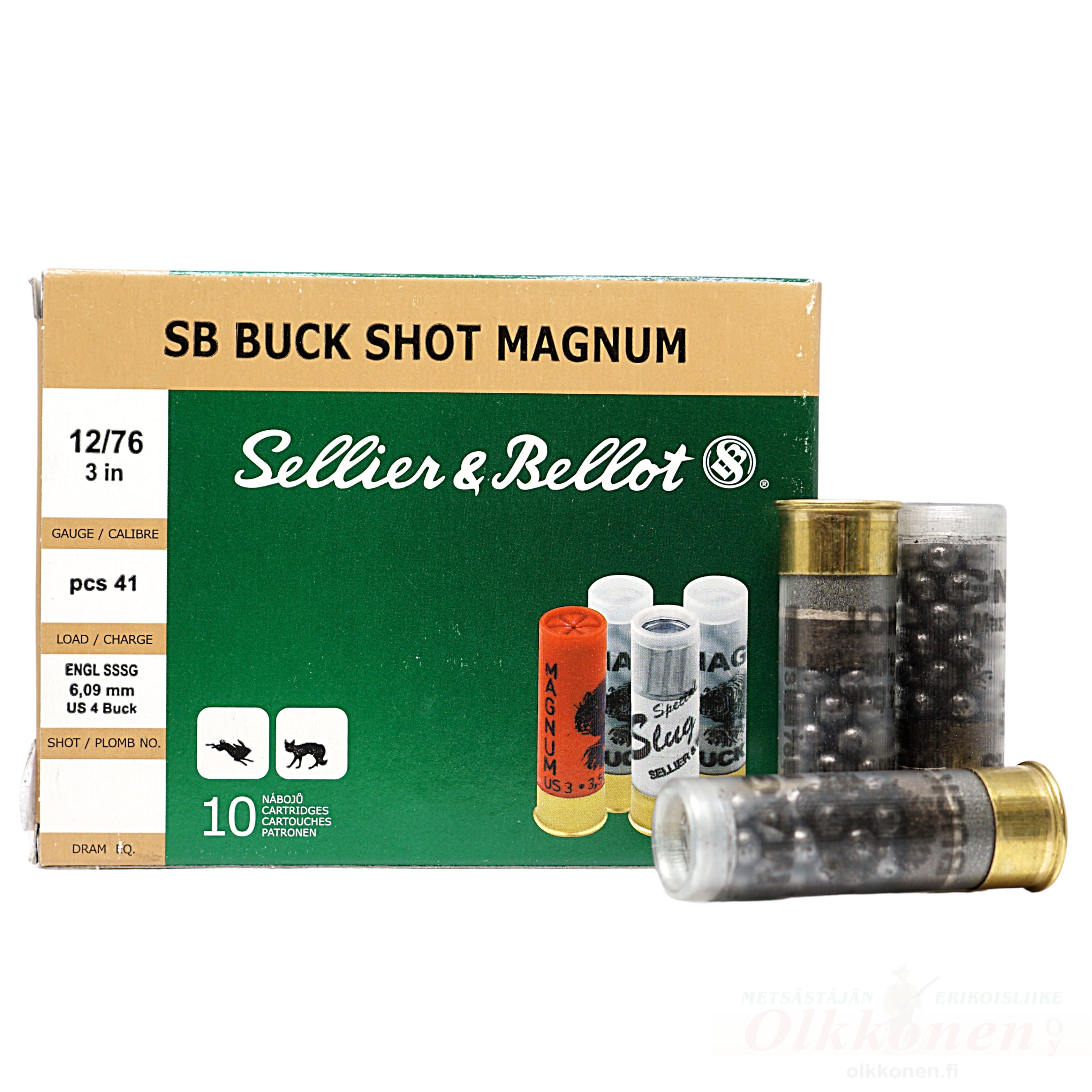 Sellier & Bellot Buck Shot mag 12/76 52g 6,1mm 10 kpl/rs