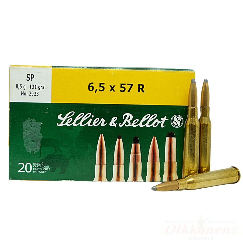 Sellier & Bellot 6,5x57R 8,5g SP  20kpl/rs