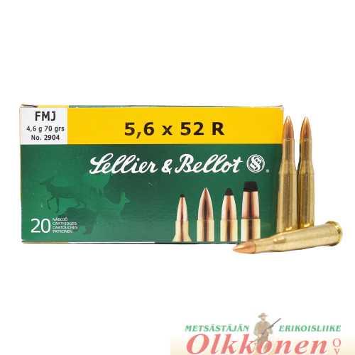 Sellier & Bellot 5,6x52R  4,6g fmj  20kpl/rs