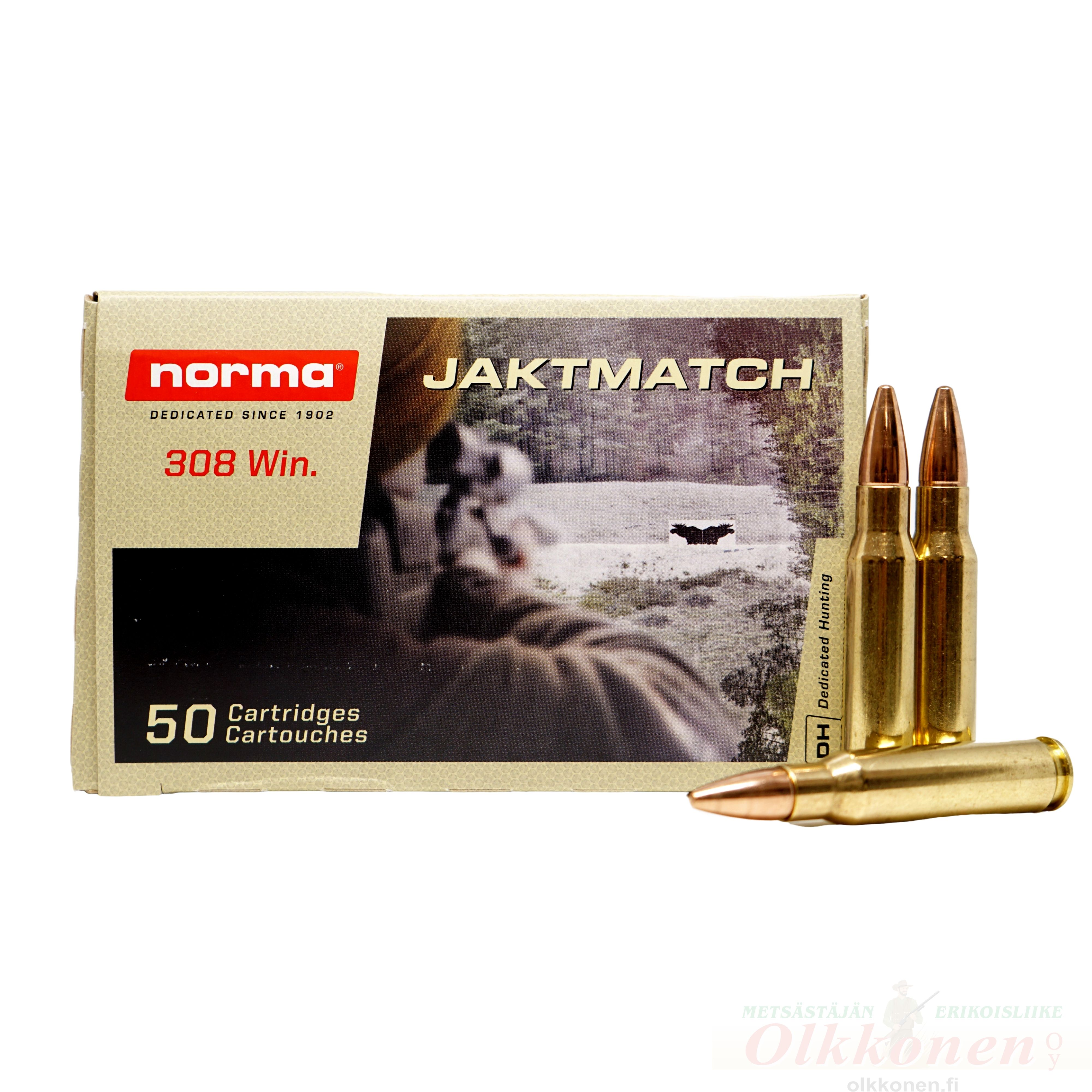 Norma .308 Win Jaktmatch 9,7 g FMJ 50 kpl / rs
