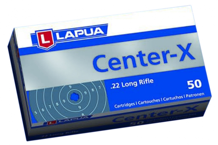 Lapua Center-X  22 lr patr. 50 kpl / rs